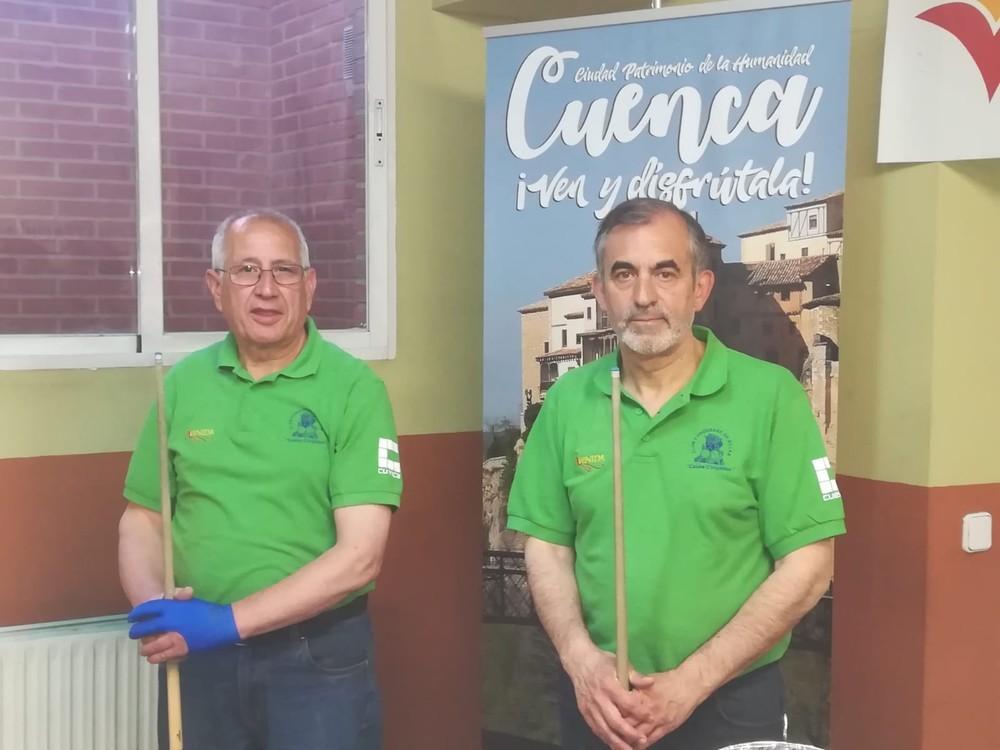 Mora y García ganan el torneo de billar de San Mateo