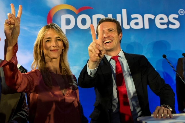 Casado garantiza que activará el 155 en Cataluña si gobierna Quique Garcia