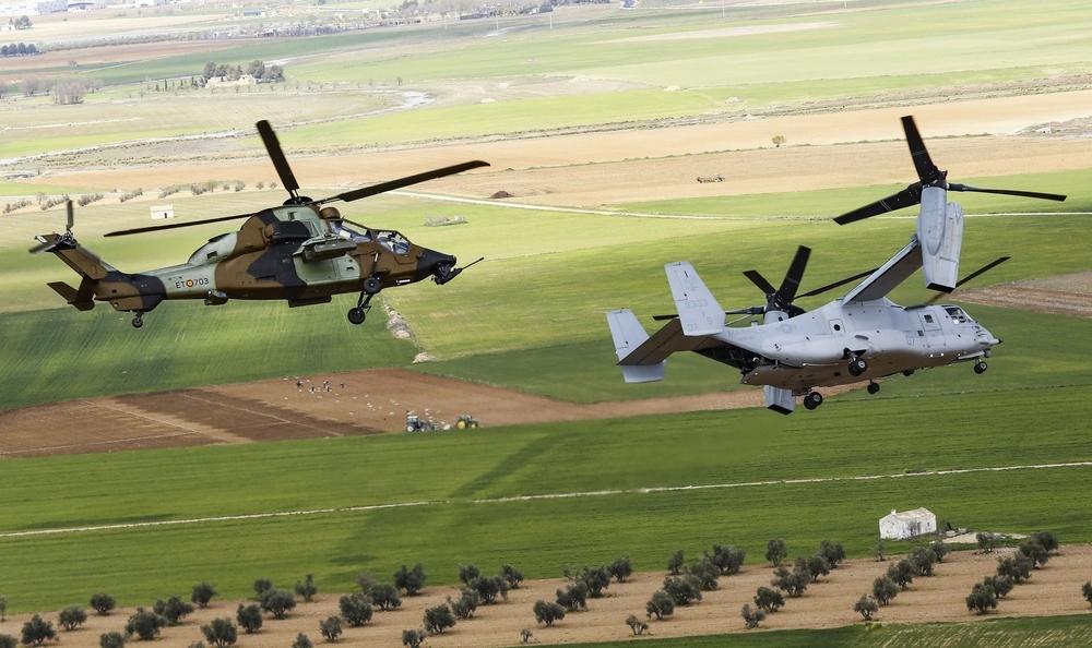 Los Osprey del Ejército Americano se entrenan en el BHELA-I