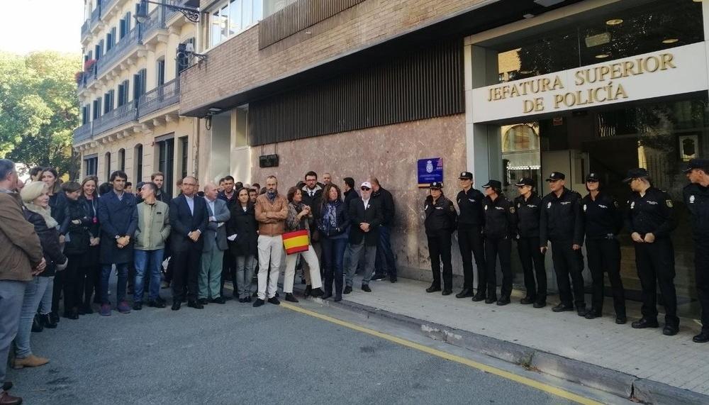 Pamplona apoya a los policías desplegados en Cataluña