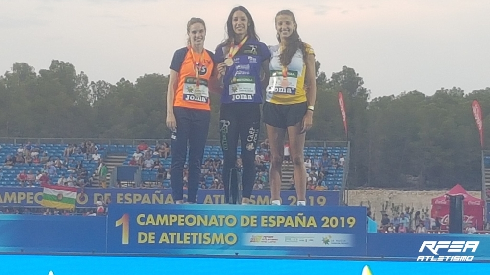 Carmen Romero, oro las 400 vallas del campeonato de España