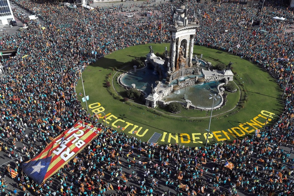 La Diada registra su manifestación menos popular desde 2012
