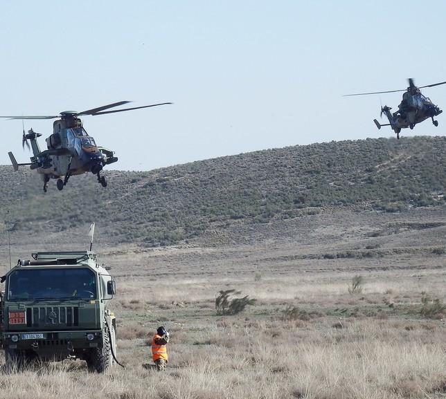 5 'Tigres' y 130 militares del Bhela entrenan en Zaragoza