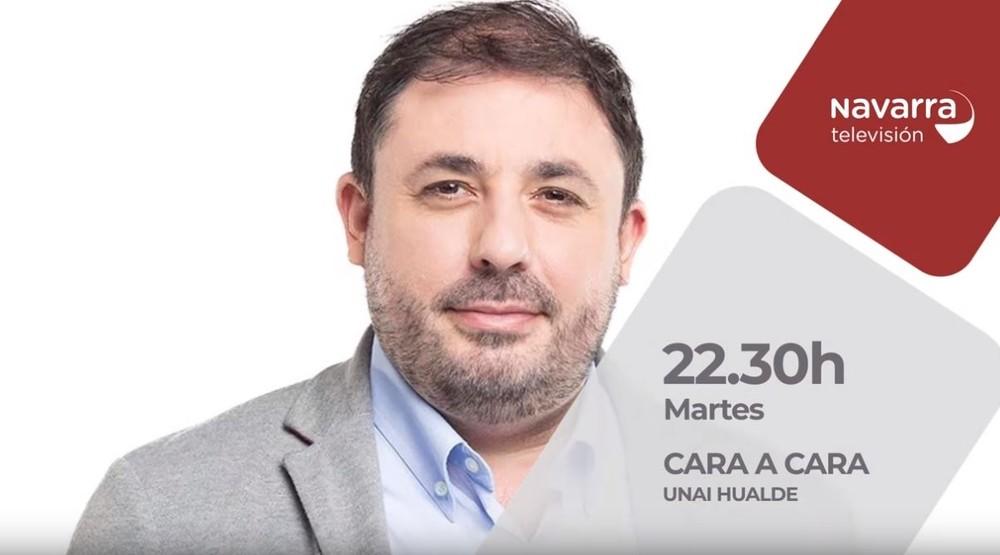 Unai Hualde, 'Cara a Cara' este martes en Navarra TV