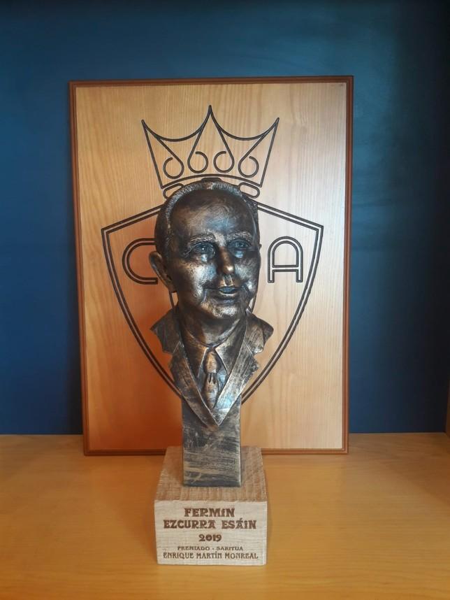 Enrique Martín Monreal recogerá el 'trofeo Fermín Ezcurra' el próximo lunes Federación de peñas osasunistas