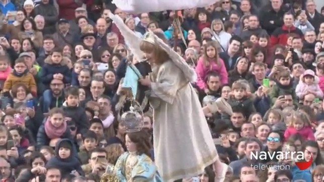 La bajada del ángel cerrará la Semana Santa tudelana