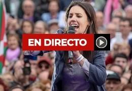 Irene Montero, en Pamplona en el acto de Unidas Podemos