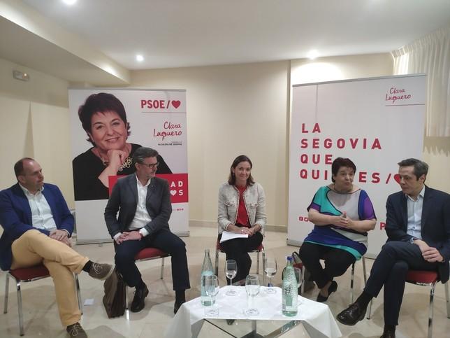 Encuentro electoral del PSOE con representantes del empresariado