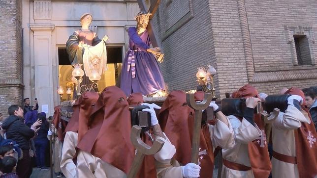 Corella celebra su tradicional procesión de Viernes Santo