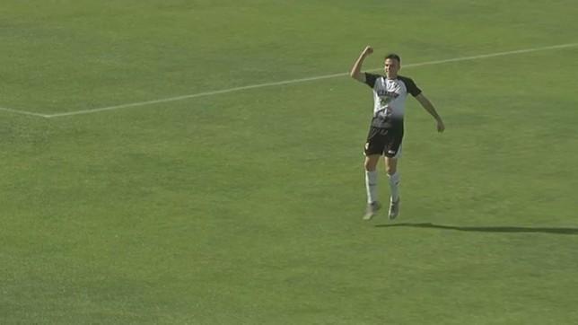 Toni Gabarre marcó el segundo tanto frente al Langreo NATV