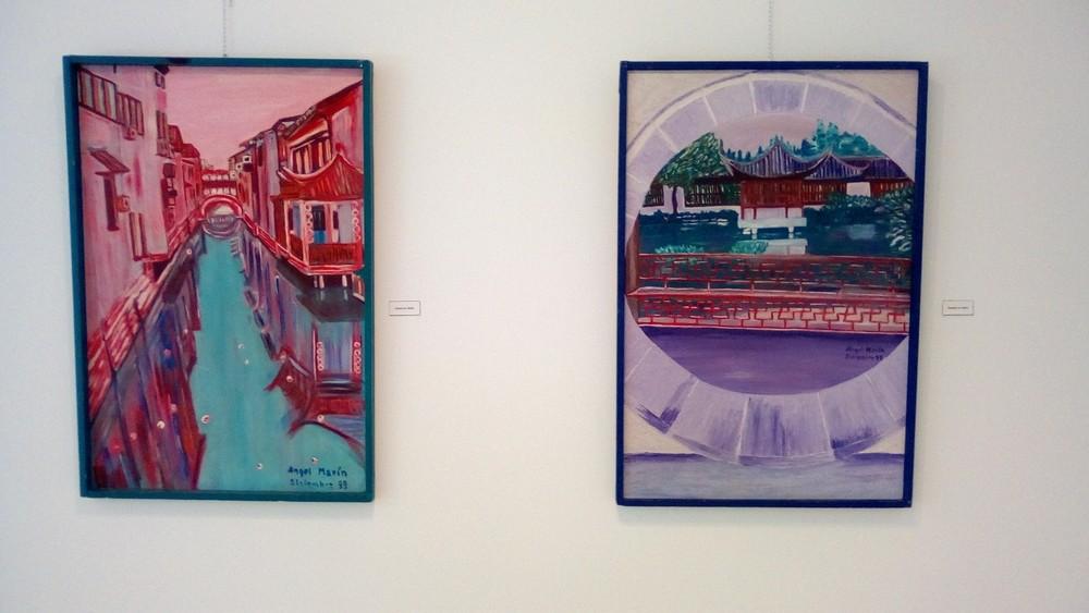Exposición de pintura en la Casa de la Madera