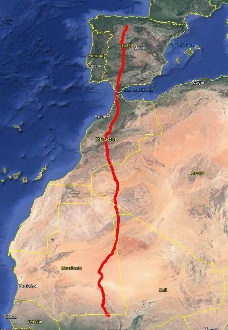 Un viaje 'marcado' de 3.000 kilómetros
