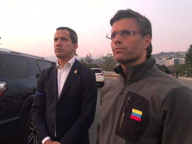 Guaidó convoca al ejército tras liberar a Leopoldo López