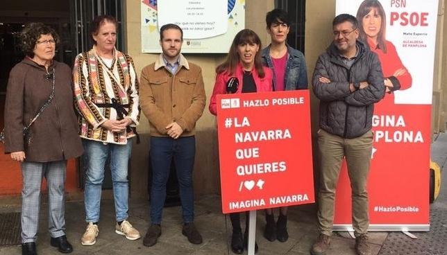 Esporrín muestra su apoyo al comercio local de Pamplona