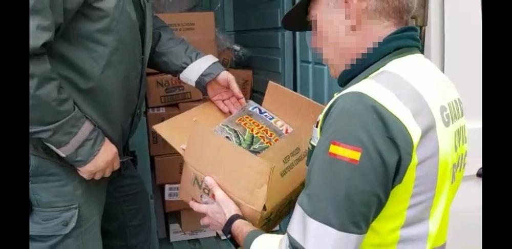 Transportaban 720 kilos de comida en condiciones inadecuadas