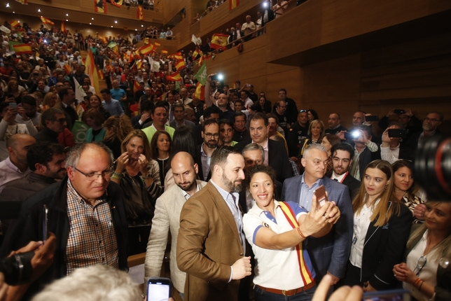 Mitín de Santiago Abascal en Valladolid
