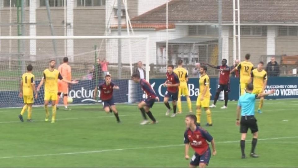 Barbero marcó el gol de la victoria del Promesas ante el Izarra