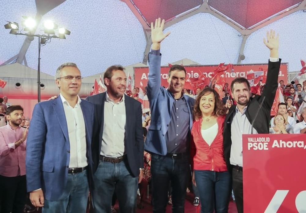 Visita de Pedro Sánchez a Valladolid.