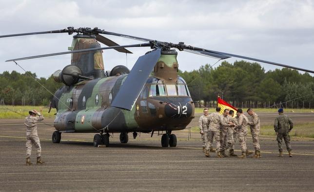 Imagen de uno de los Chinook que volará a Irak