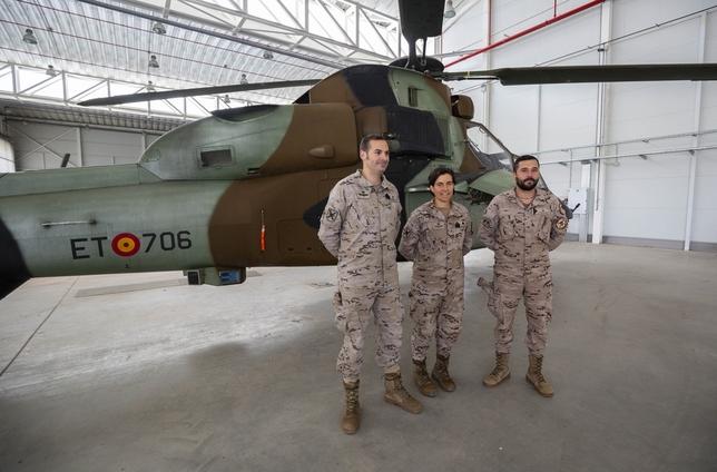 Tres de los militares del contingente, entre ellos el sargento piloto Poblete del BHELA I
