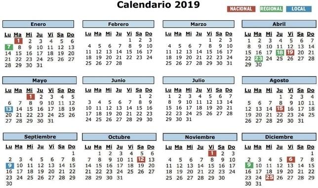 Calendario 2019 Castilla Y Leon.Calendario 2019 Cuatro Lunes Festivos Y Un Macropuente El Dia