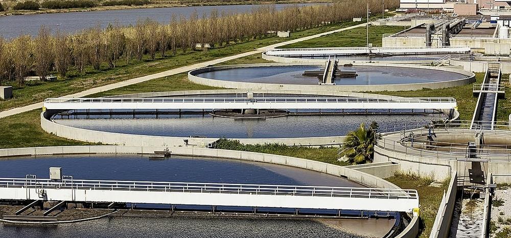 La biofactoría La Farfana, que la compañía SUEZ tiene en Santiago de Chile.