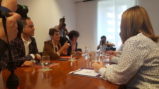 Reunión a cuatro para negociar el nuevo Gobierno de Chivite