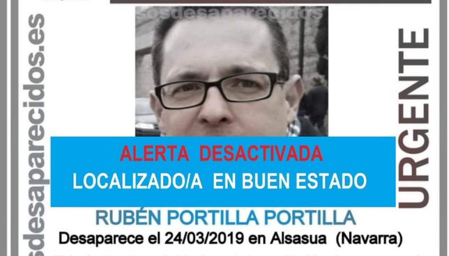 Aparece en buen estado el alsasuarra desaparecido el domingo SOS Desaparecidos