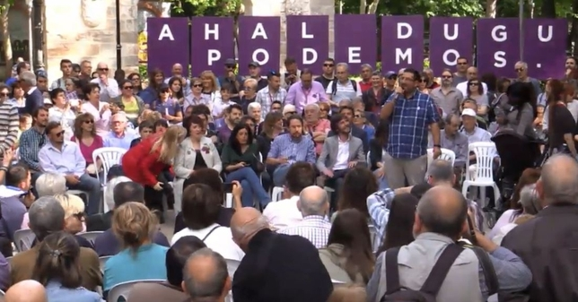 [DIRECTO] Iglesias pide en Pamplona el voto para Podemos