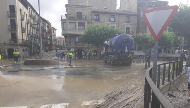 El alcalde de Tafalla pide ayuda para limpiar las calles