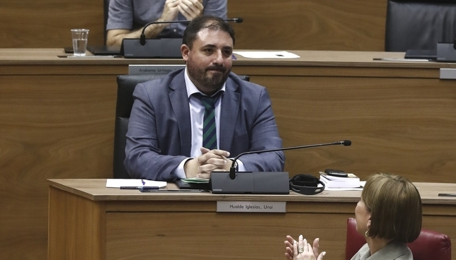 Geroa Bai preside el Parlamento tras recibir el apoyo de PSN