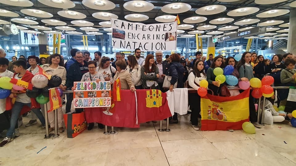 Honores para Iris Agudo en su regreso a España