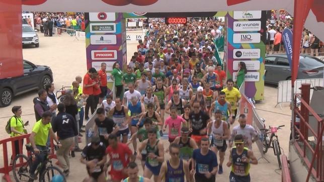 La fiesta de la San Fermín Marathon en Pamplona