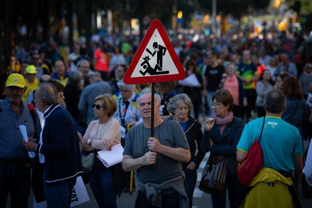 El independentismo se moviliza contra la sentencia del procé