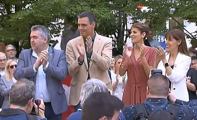 """Sánchez pide el voto socialista navarro para """"avanzar"""""""