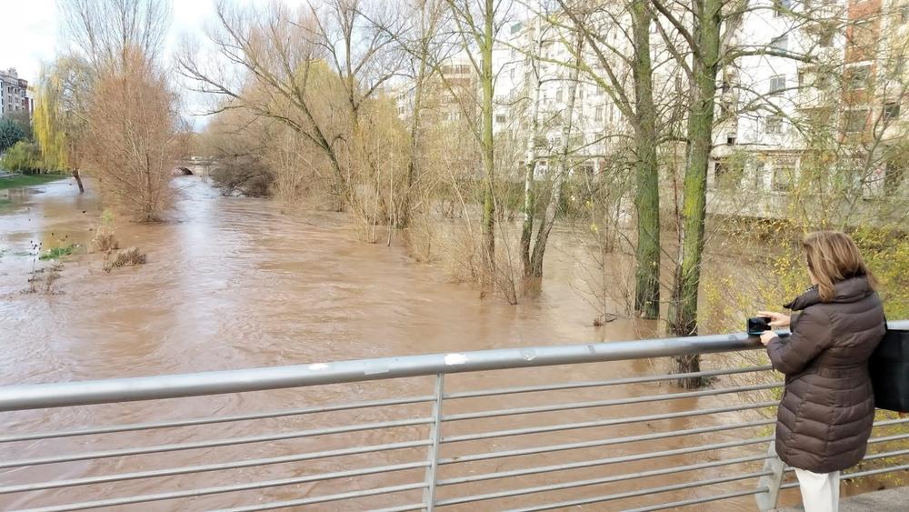 El río Arlanzón, a su paso por la capital.