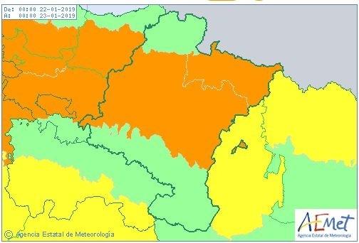 Llega la nieve: Navarra, en aviso naranja