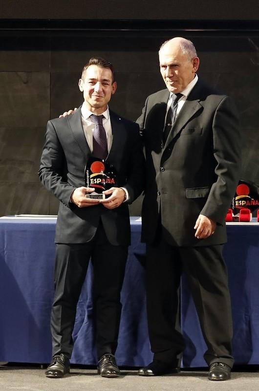 Jorge Galán, al recoger su reconocimiento.