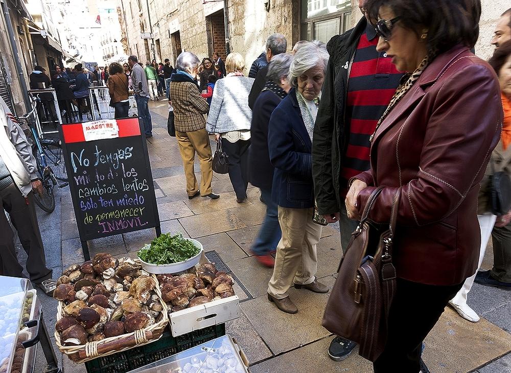 Hay comercios especializados en la venta de hongos y setas.