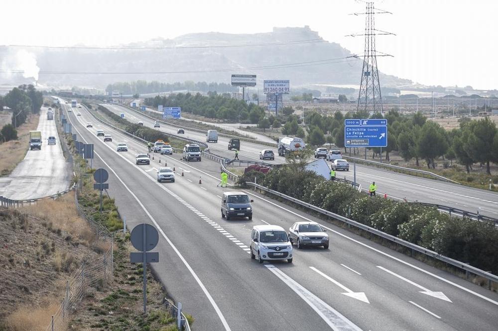 Vuelca un camión entre Albacete y Chinchilla