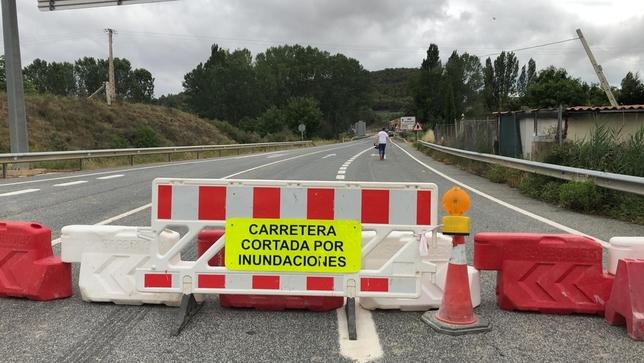 Cortadas seis carreteras secundarias en Navarra