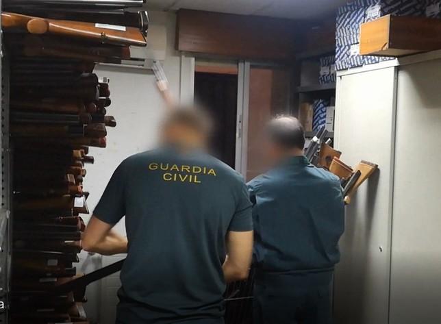 La Guardia Civil destruyó 2.100 armas en Valladolid en 2018