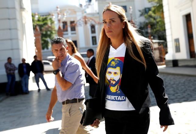 Lilian Tintori y su hija menor llegan a España