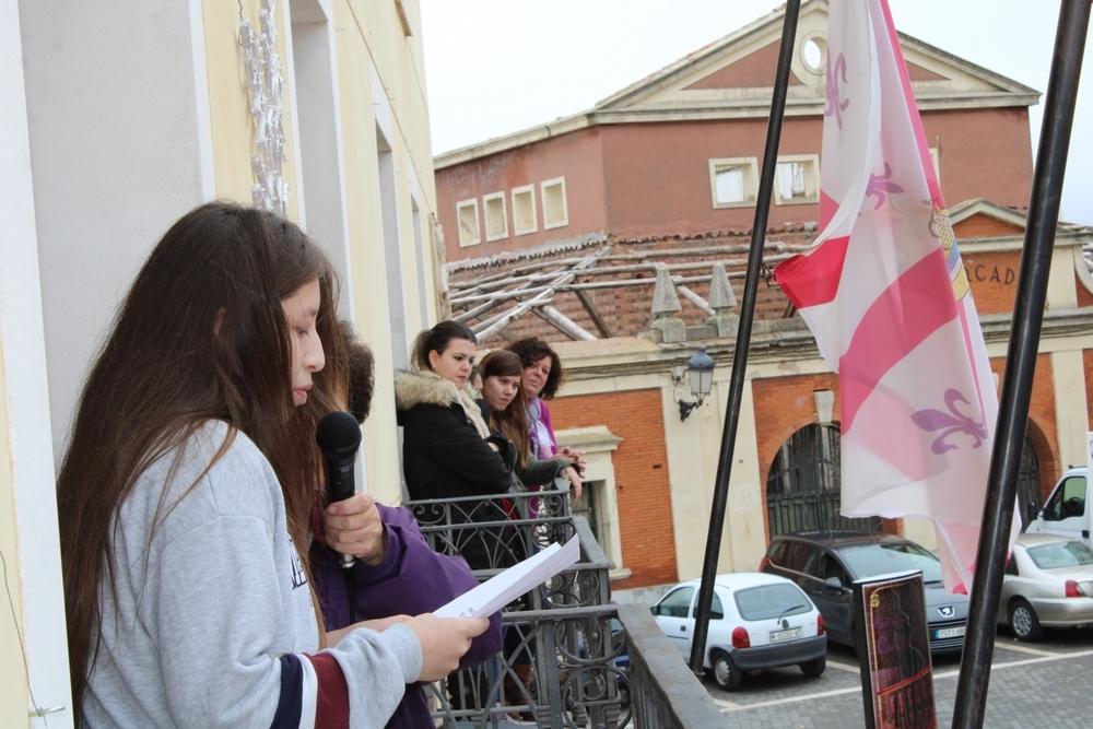 Pitada estudiantil contra la violencia de género en Tarancón