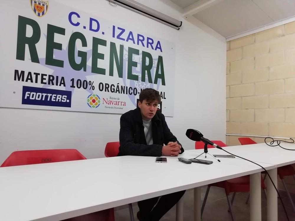 Pablo Álvarez, entrenador del C.D. Izarra