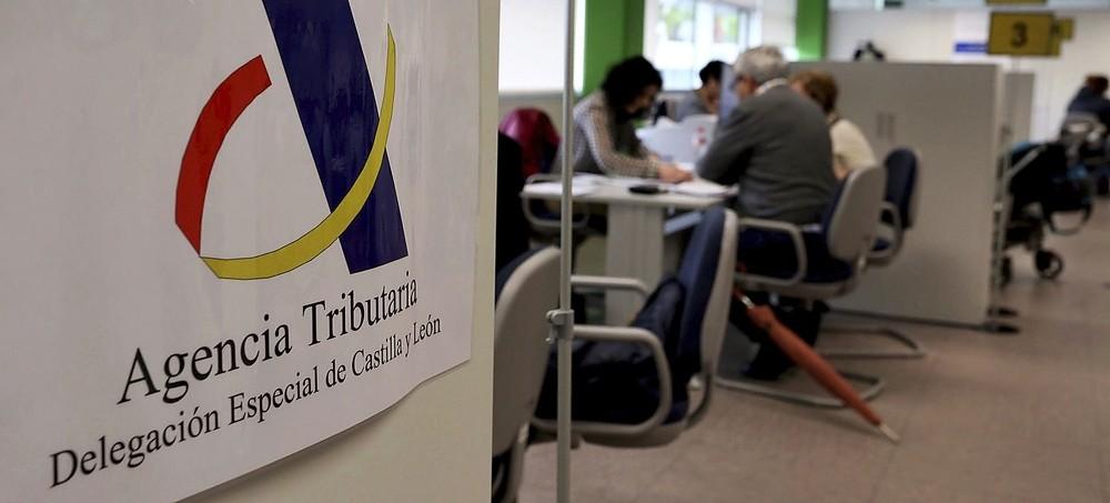 Imagen del interior de la delegación de la Agencia Tributaria enCastilla y León.