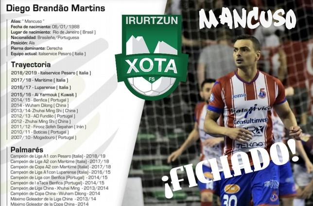 Xota ya tiene a su goleador: Mancuso