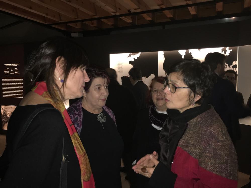 Aguiar junto a Luquero y la anterior concejala de Cultura Marifé Santiago