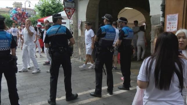 4 denuncias por tocamientos y 2 detenidos en Sanfermines