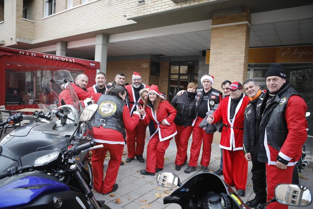 La cabalgata motera de Valladolid.
